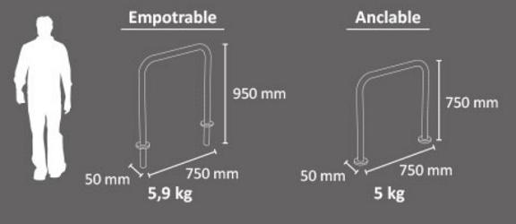 Aparcabicicletas Mod. EINDHOVEN