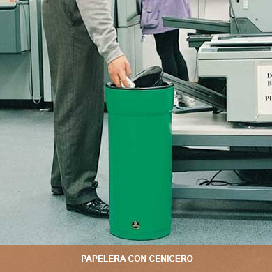 PAPELERAS CON CENICERO