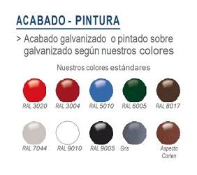 Colores BARANDILLA CON BARROTES