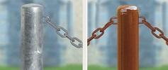 Pilona con cadena