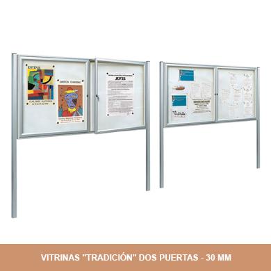 VITRINAS TRADICIÓN DOS PUERTAS - 30MM