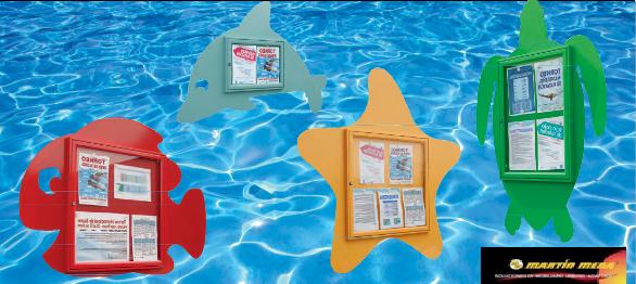 Vitrinas de exterior para centros acuáticos