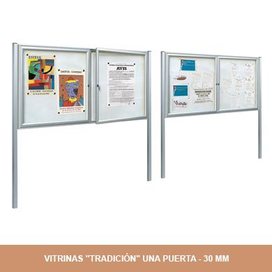 VITRINAS TRADICIÓN UNA PUERTA - 30MM