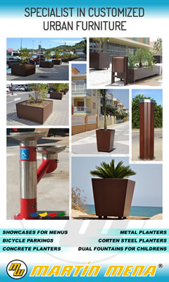 SPECIALIST IN CUSTOMIZED URBAN FURNITURE