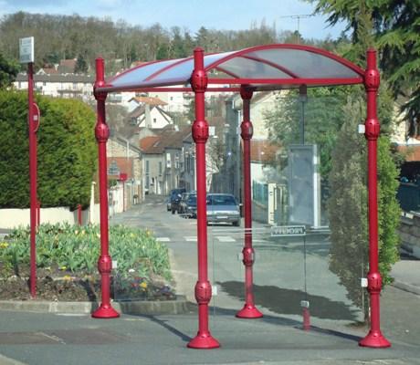 Marquesinas-paradas de autobús postes redondos