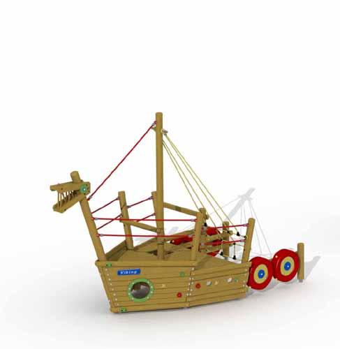 U100 - Barco vikingo - Proa