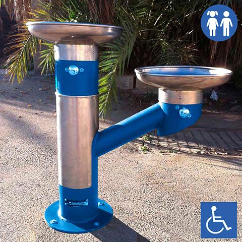 Fuente DOBLE apta para niños y personas con movilidad reducida