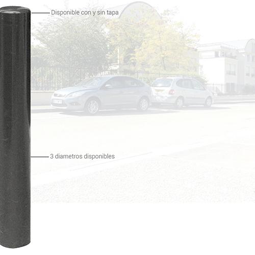 Este bolado está disponible con o sin tapa y en 3 diferentes diámetros