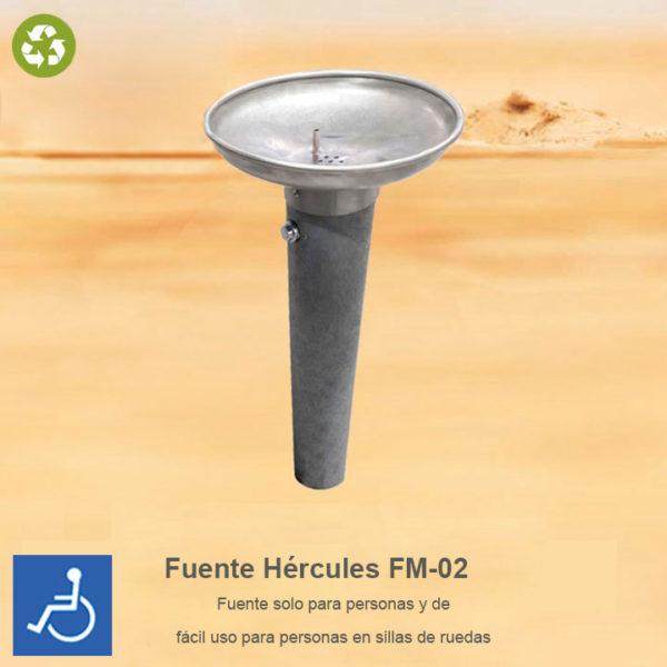Fuente para beber FM-02 para personas fabricada en plástico reciclado 100%
