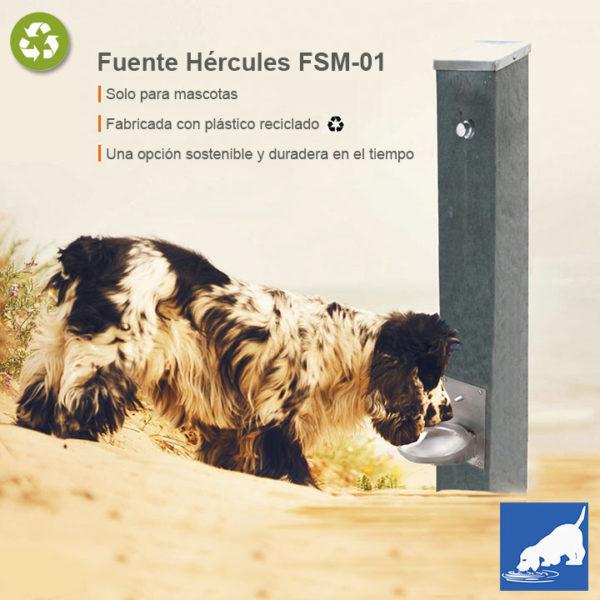 Fuente para canes.FSM-01 fabricada en plástico reciclado