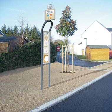 Poste parada autobús