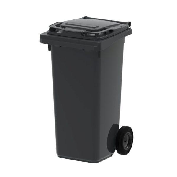 Contenedor de dos ruedas - 120 l, tapa negra