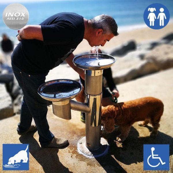 Fuente-bebedero FXU03 para personas y sus perros