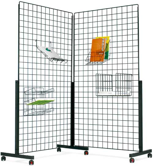 Paneles rejilla de exposición  metálicos medidas 180x100mm