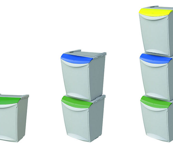 CONTENEDOR APILABLE RECYCLING - Apilable en torre