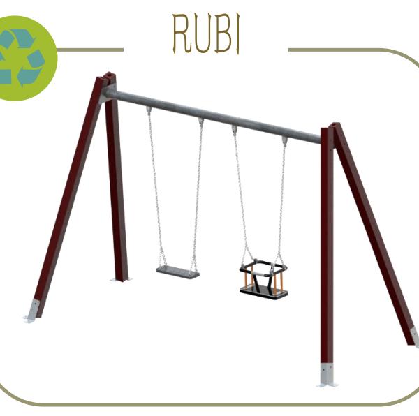 """COLUMPIO """"RUBI B"""" 100% PLÁSTICO RECICLADO"""