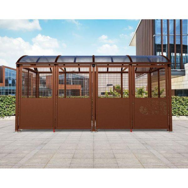 Refugio para bicicletas Bóveda con puerta