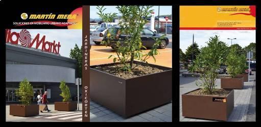El Parque Comercial Bilbondo instala 22 jardineras de Representaciones Martín Mena