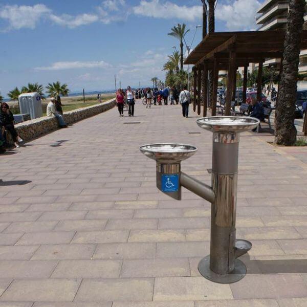 Fuente bebedero mod. FXU-03 para personas y mascotas ideal para paseos marítimos
